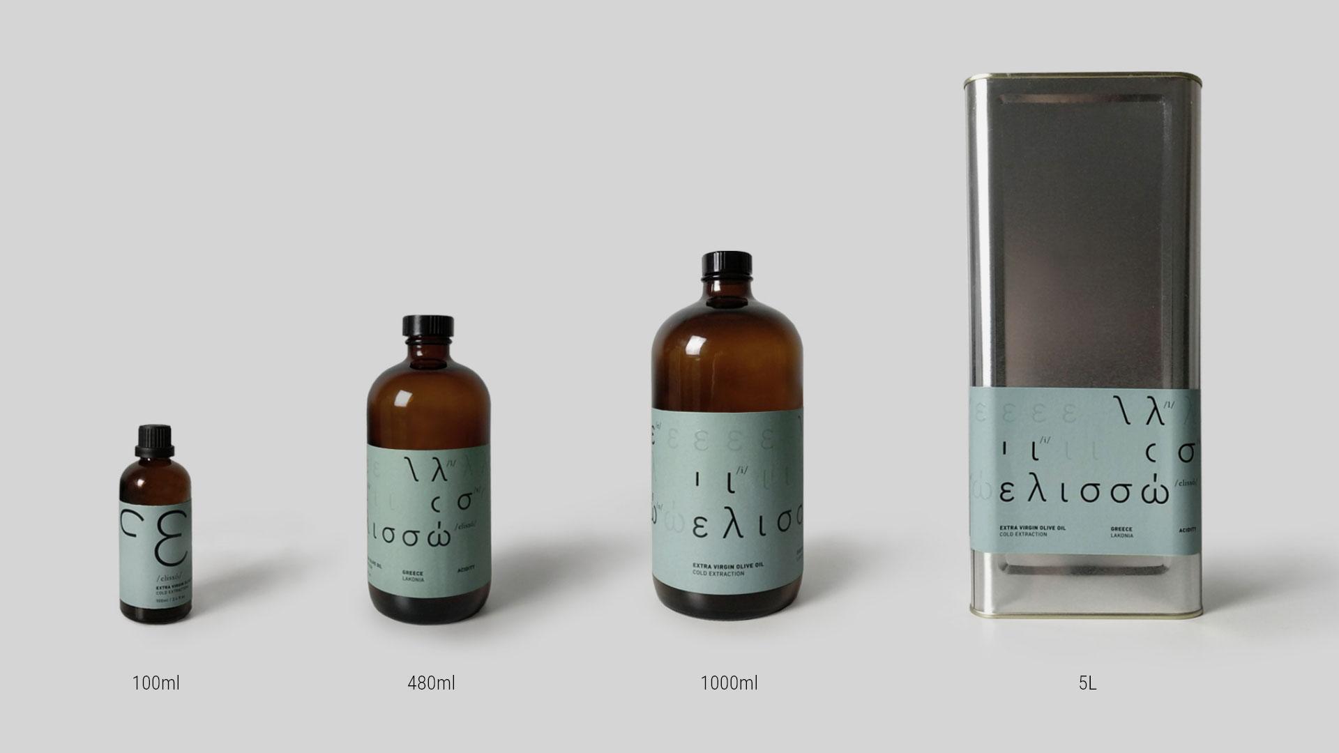Packaging extra virgin olive oil Elisso